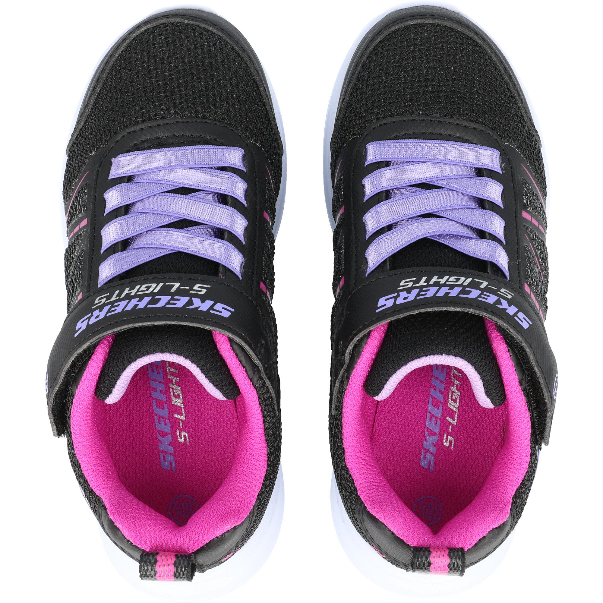 Skechers Glimmer Kicks Shimmy Brights Black Synthetic