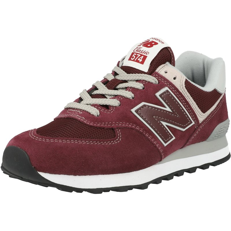 Details about New Balance 574 Burgundy Suede Adult Trainers Shoes