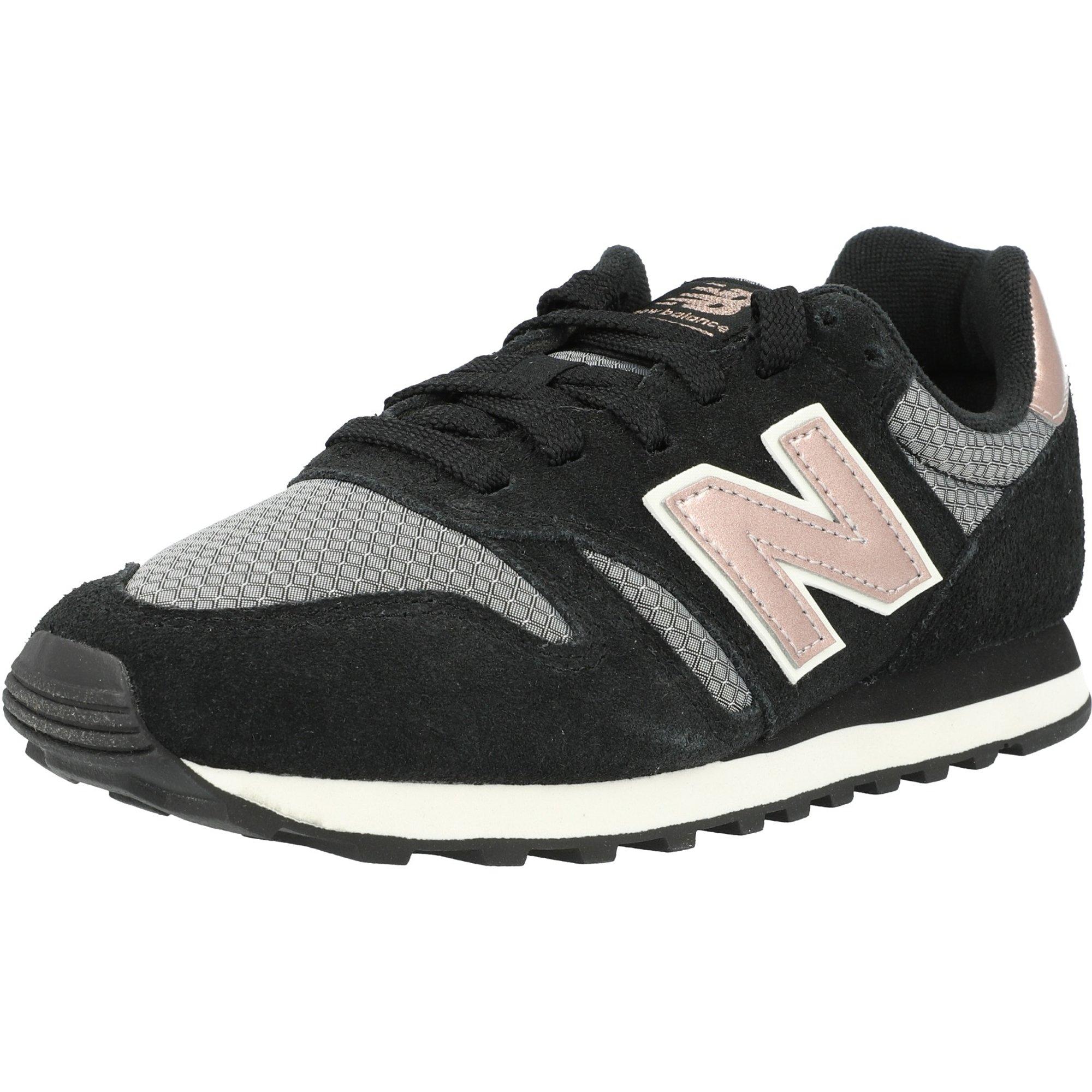 New Balance 373 Black/Champagne Leather Adult