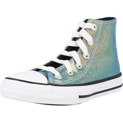 Chuck Taylor All Star Hi Iridescent Glitter Junior childrens shoes