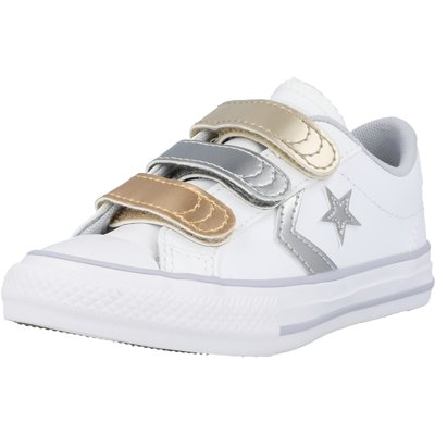 Star Player 3V Ox Metallic Leather Junior childrens shoes