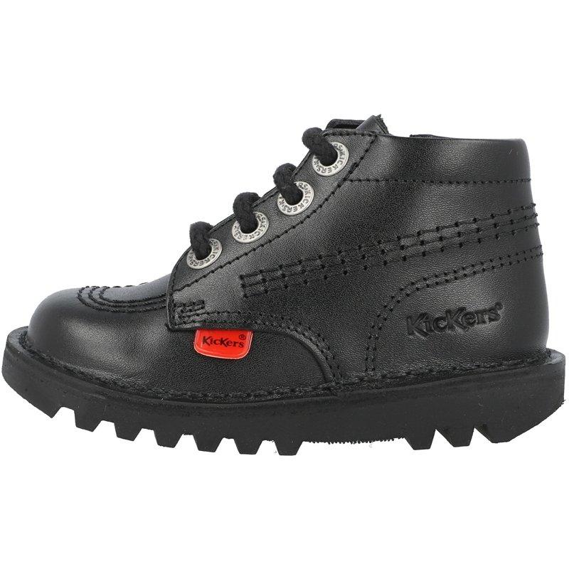 Kickers Kick Hi Zip I Black Leather