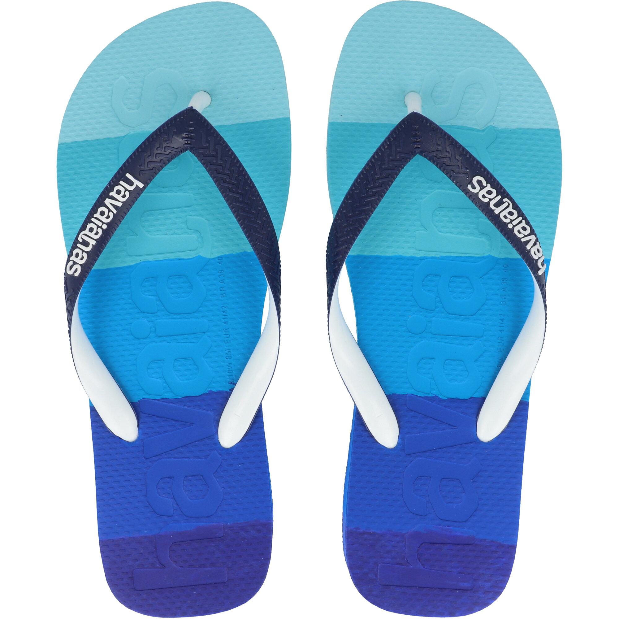 Havaianas Top Logomania Multicolor Gradient Marine Blue Rubber
