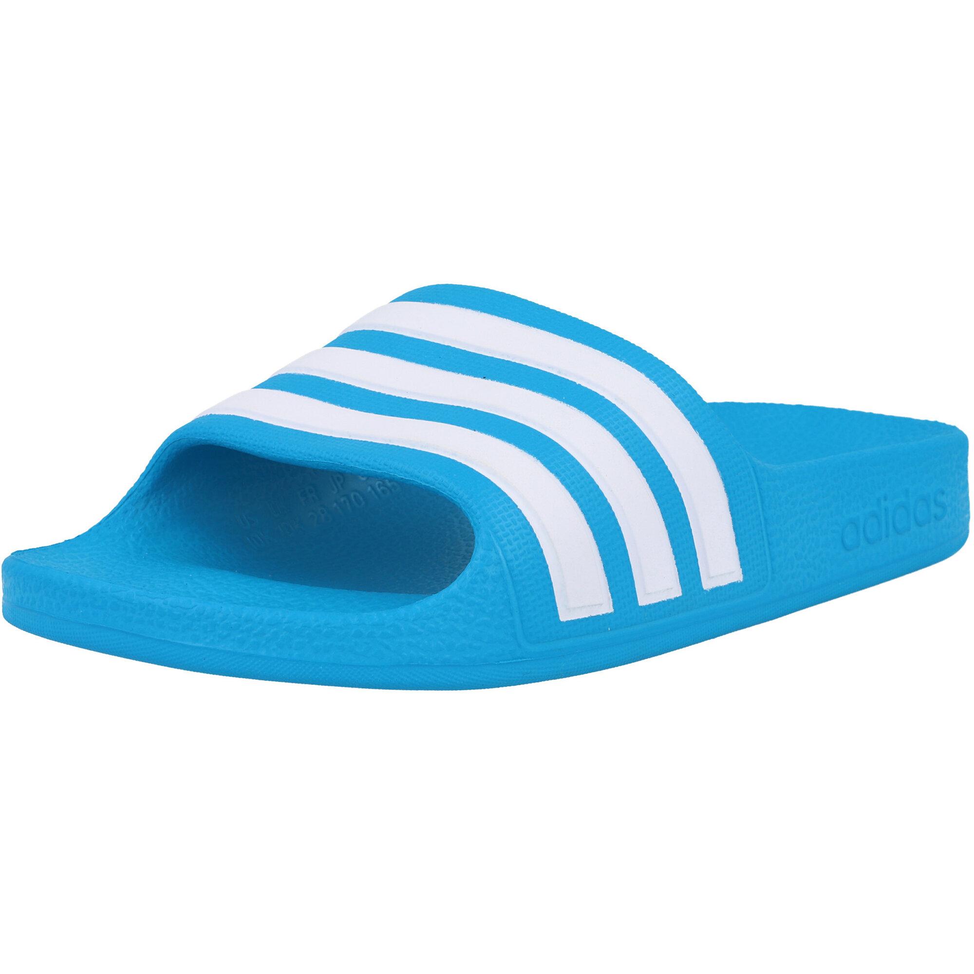 adidas adilette Aqua K Blue/White Synthetic