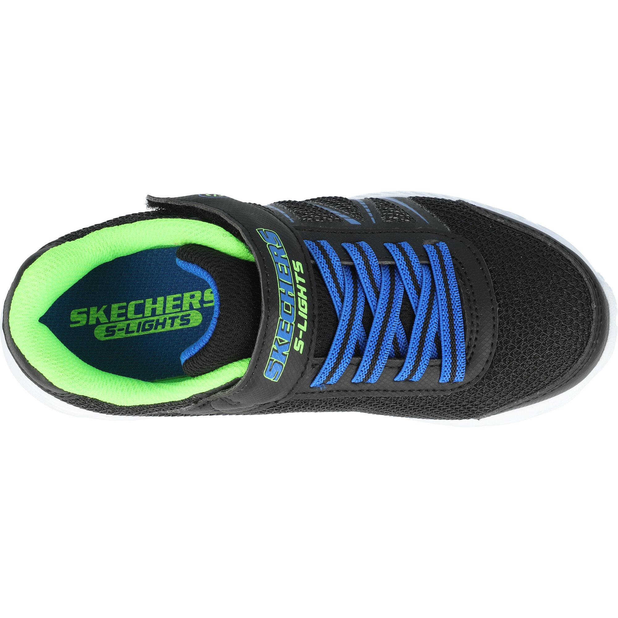 Skechers Dynamic-Flash Black/Blue Synthetic