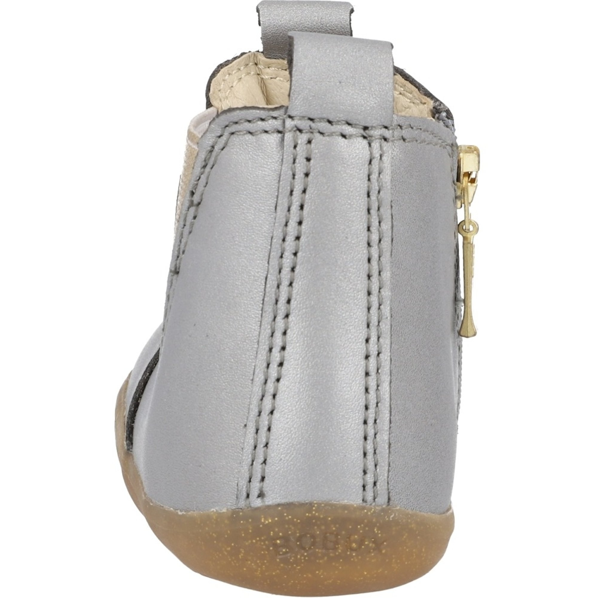 Bobux Step Up Jodhpur Charcoal Shimmer Quickdry Metallic Leather