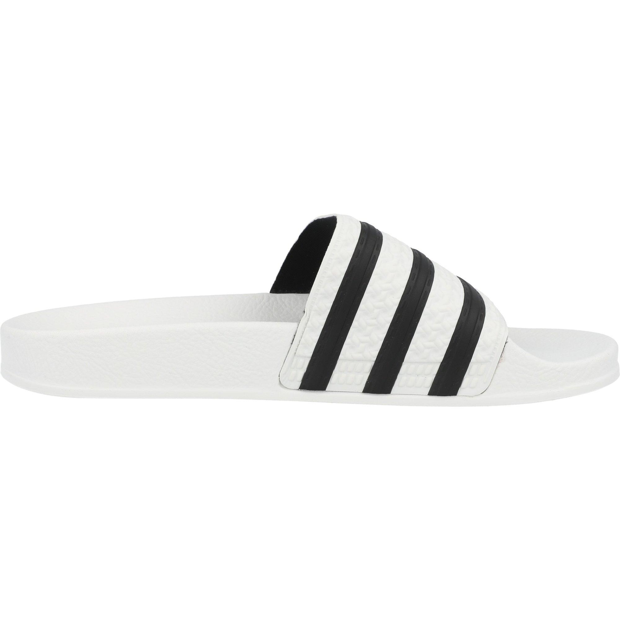 adidas Originals adilette White/Core Black Synthetic