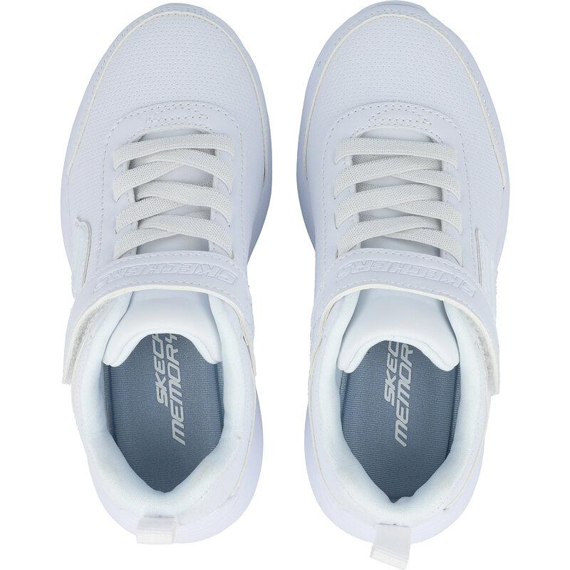 Skechers Dyna-Lite School Sprints White Duraleather