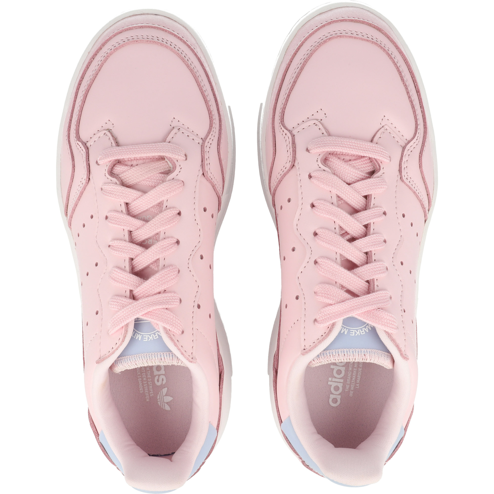 adidas Originals Supercourt W Clear Pink/Aero Blue Leather