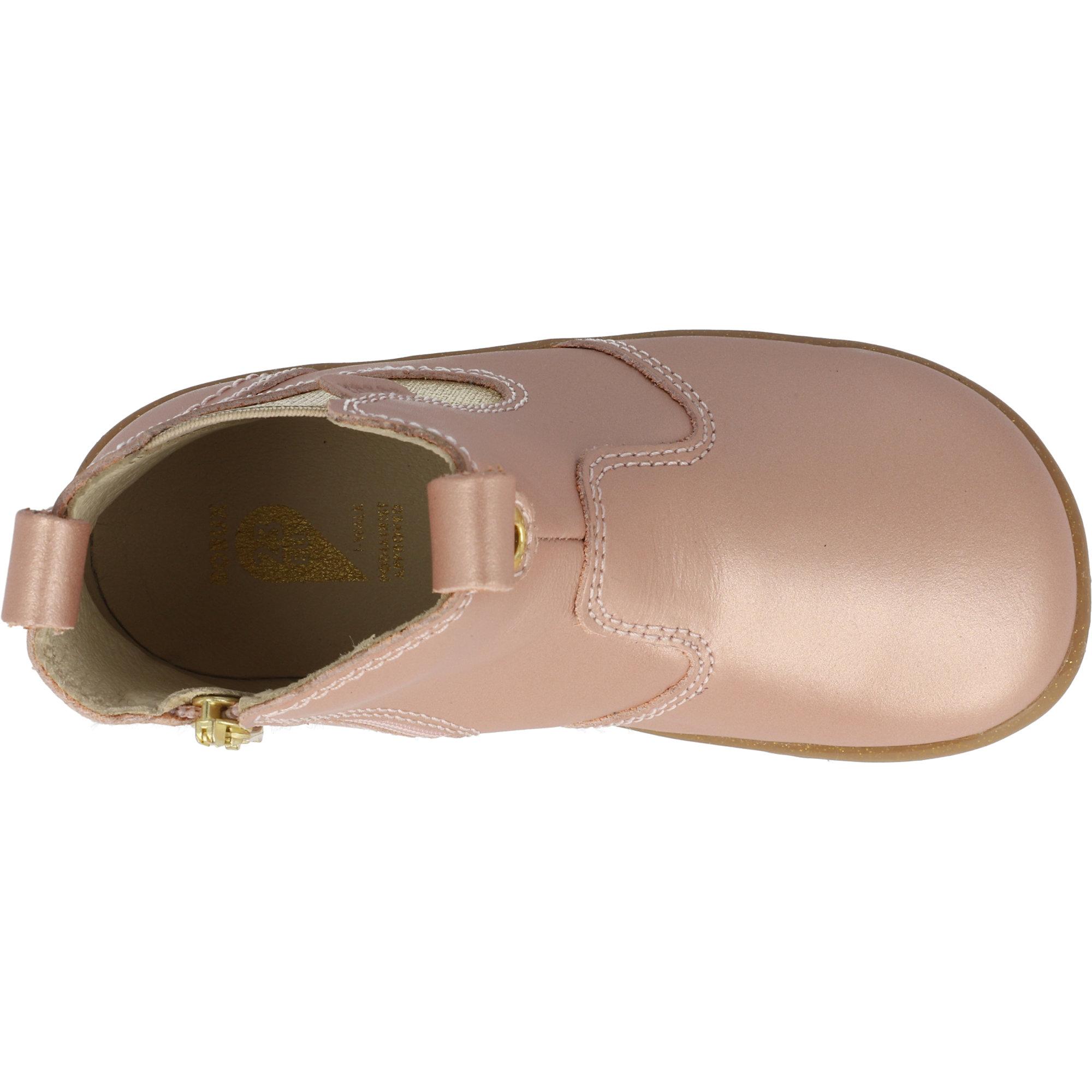 Bobux i-Walk Jodhpur Rose Gold Quickdry Metallic Leather