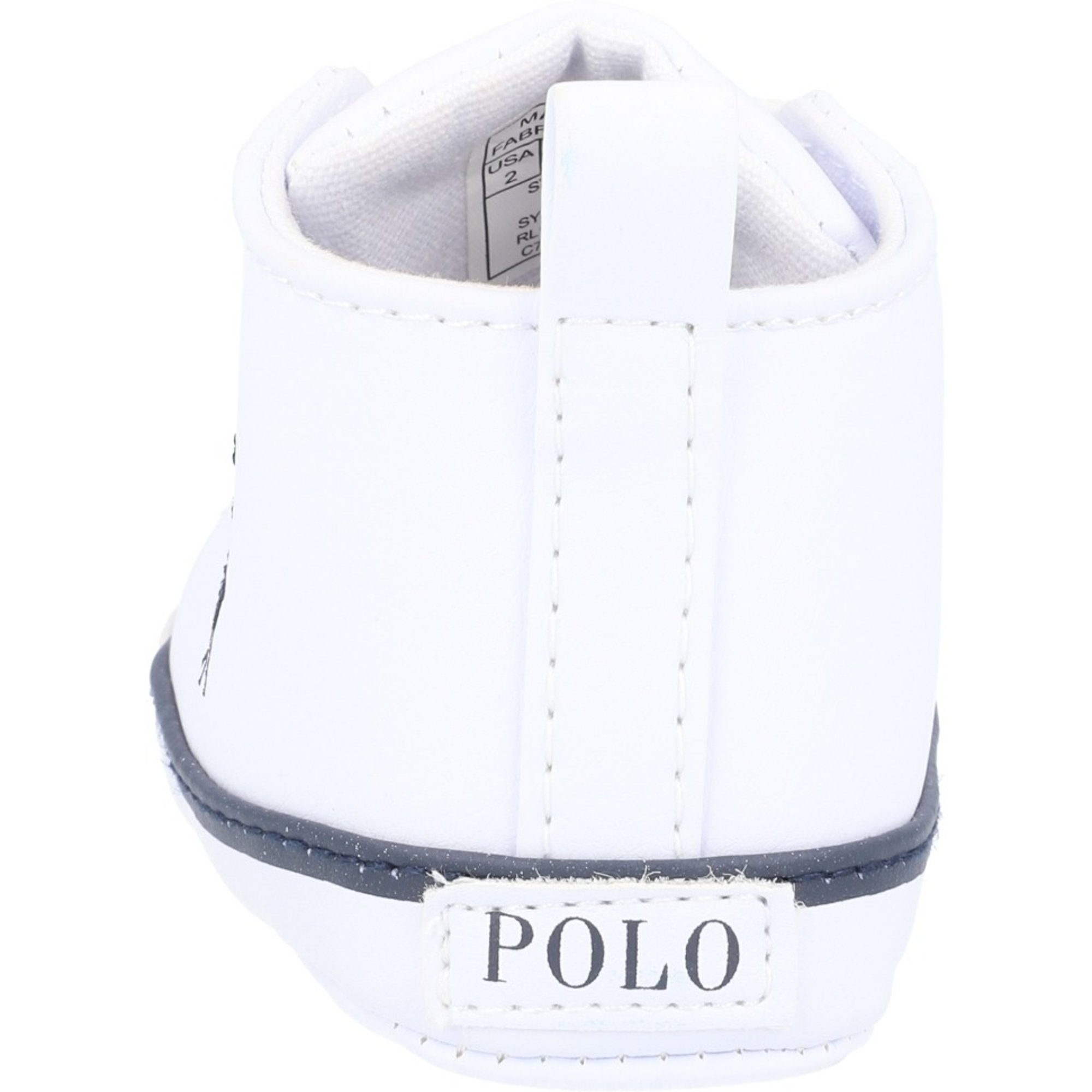 Polo Ralph Lauren Hamptyn Hi Layette White/Navy Tumbled