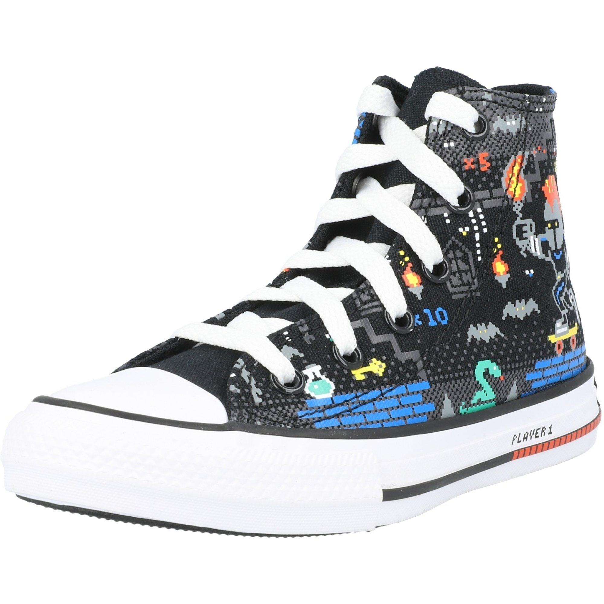 Converse Chuck Taylor All Star Hi Gamer Black/Bright Poppy Canvas