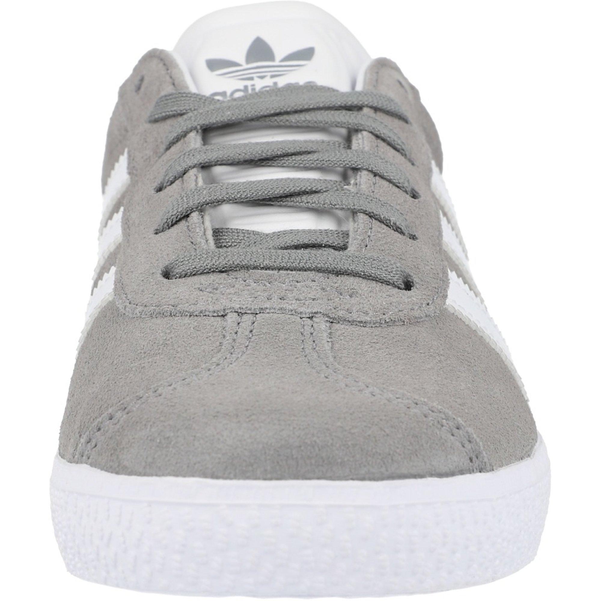 adidas Originals Gazelle J Grey/Gold Leather