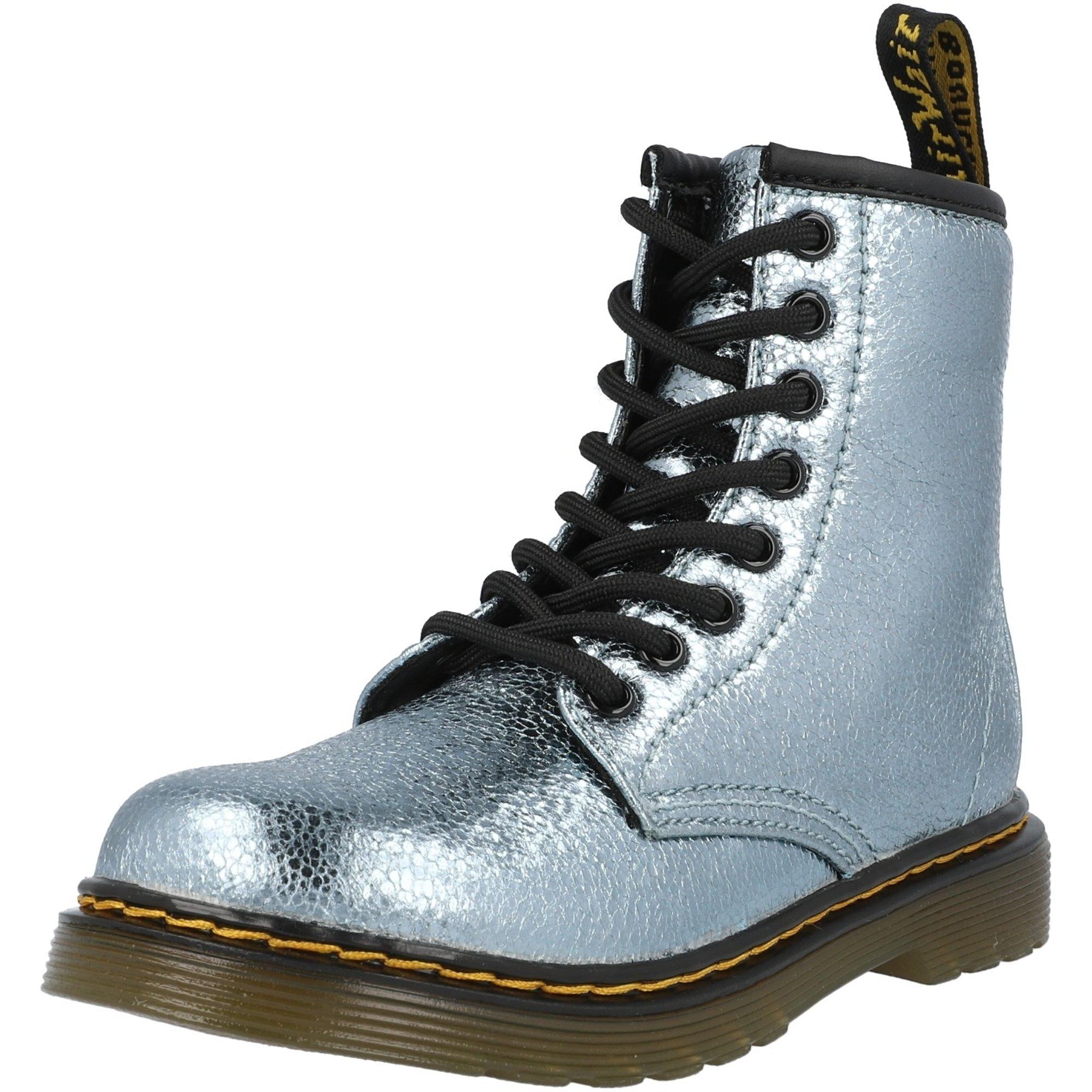 Dr Martens 1460 J Teal Crinkle Metallic