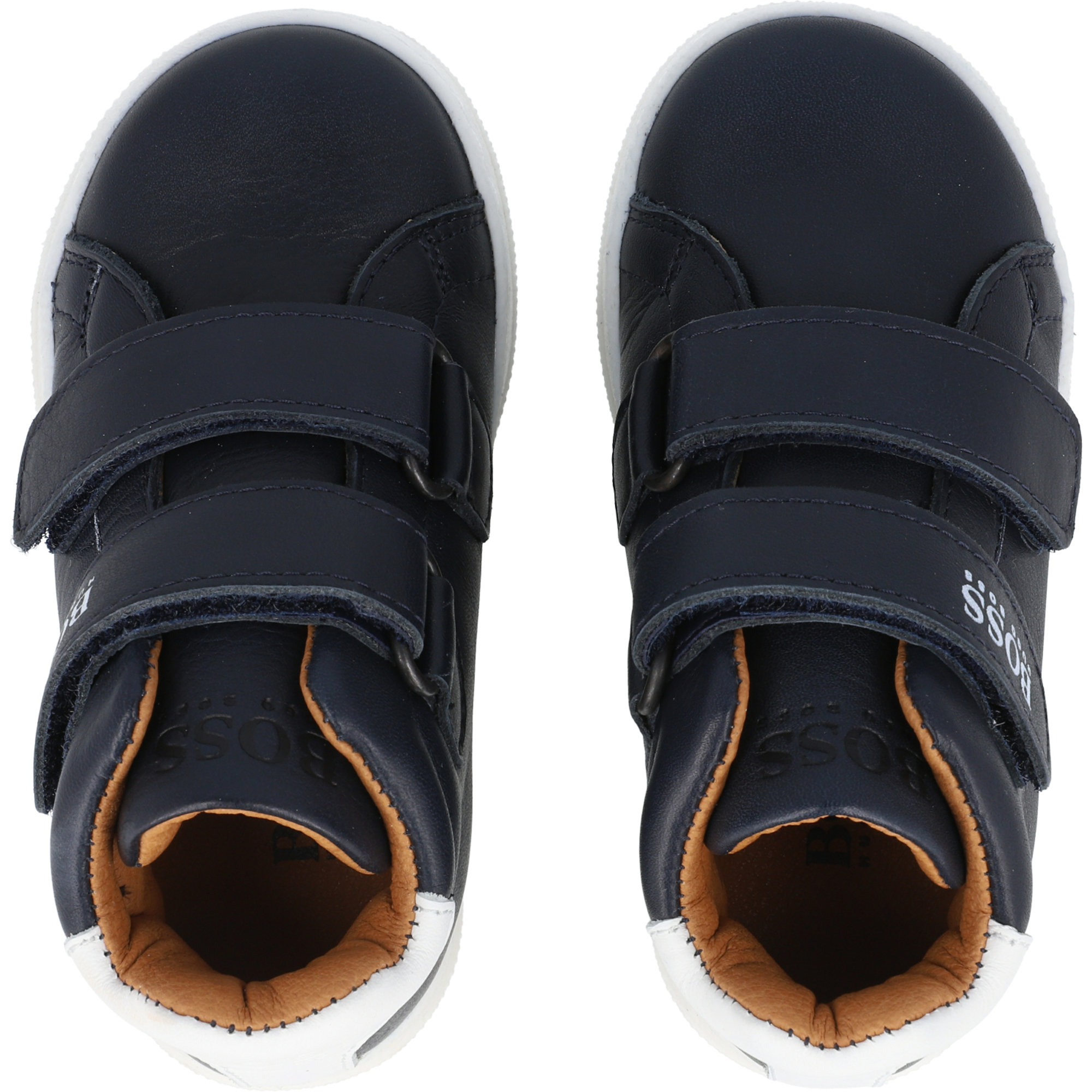 BOSS Trainers Navy Leather