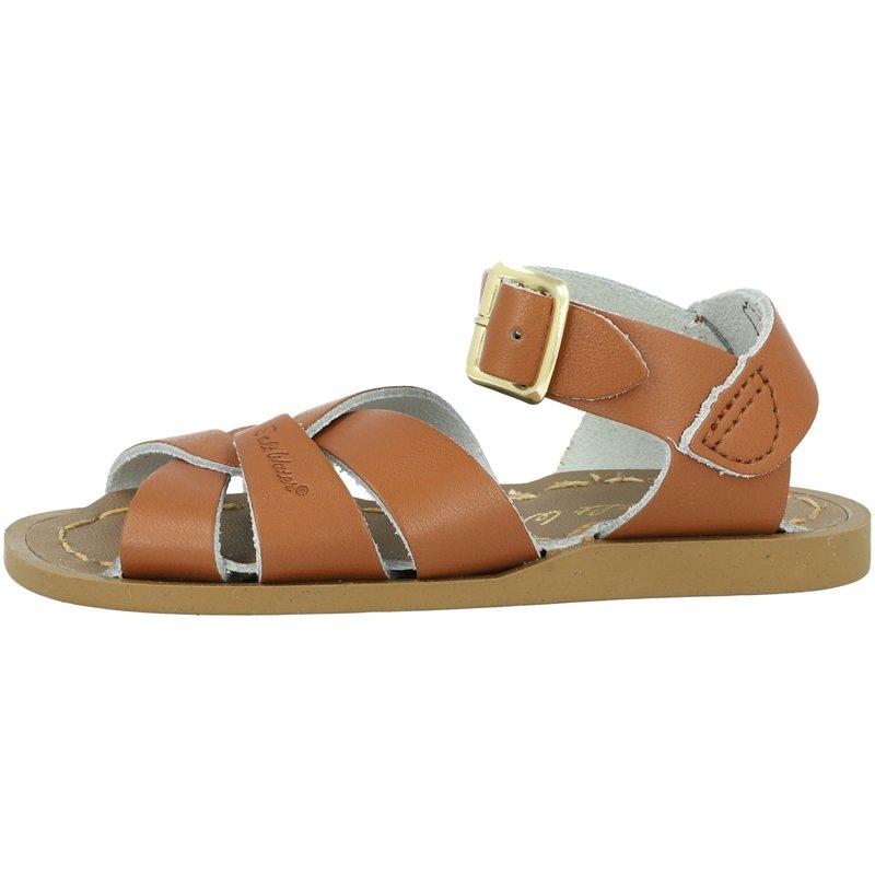 Salt Water Sandals Original Kids Tan Leather