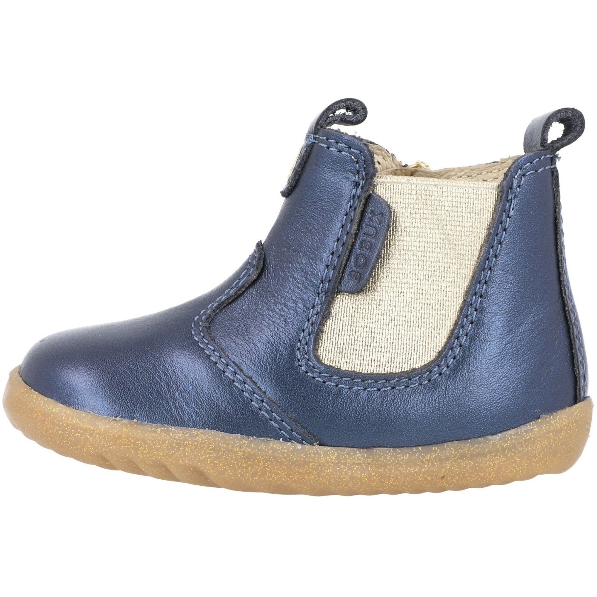 Bobux Step Up Jodhpur Navy Shimmer Shimmer Leather