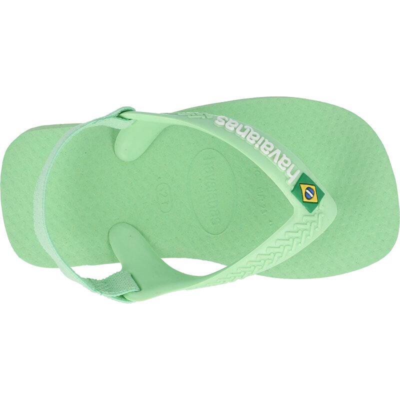 Havaianas Baby Brasil Logo II Hydro Green Rubber