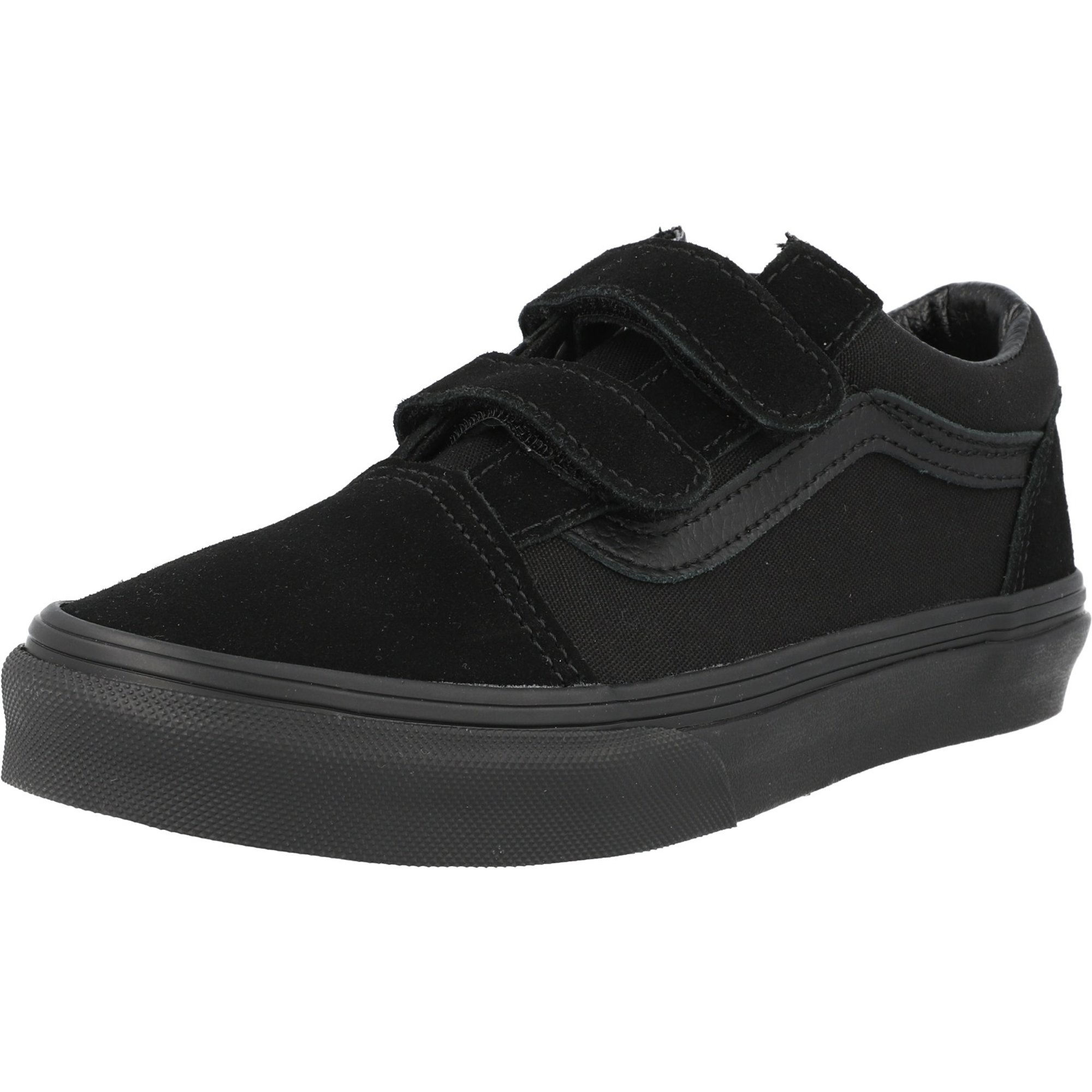 junior all black vans