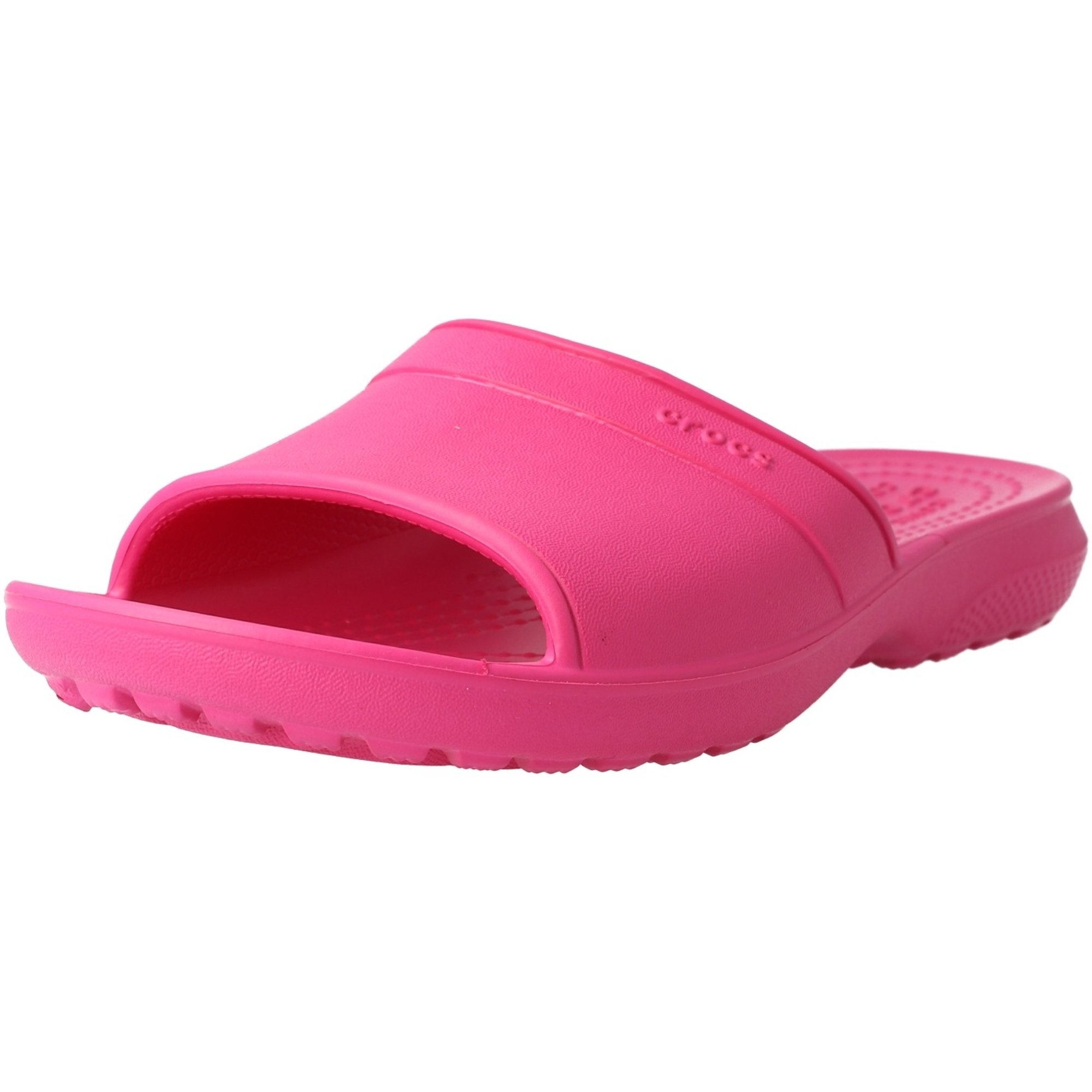 Crocs Kids Classic Slides Candy Pink Croslite