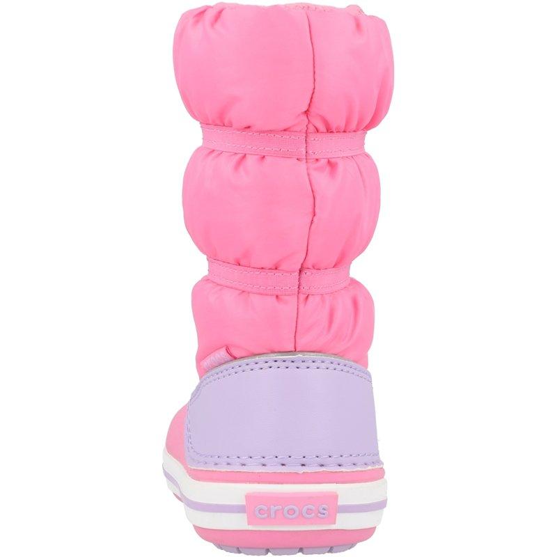 Crocs Kids Crocband Winter Boot Pink Lemonade/Lavender Croslite
