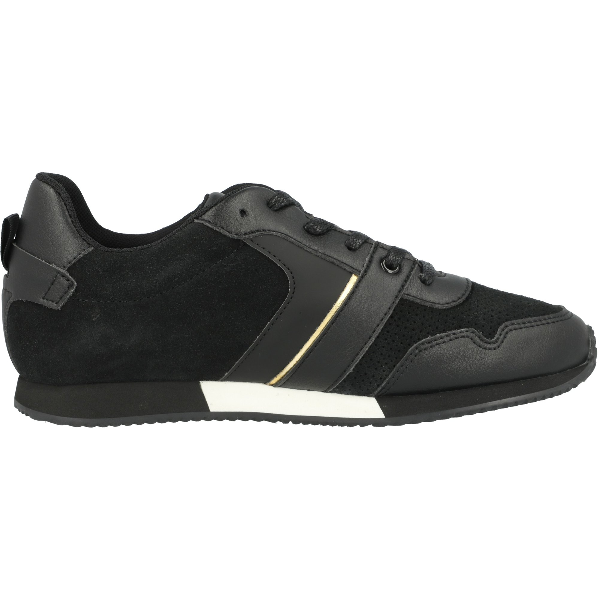 BOSS Trainers Black Suede