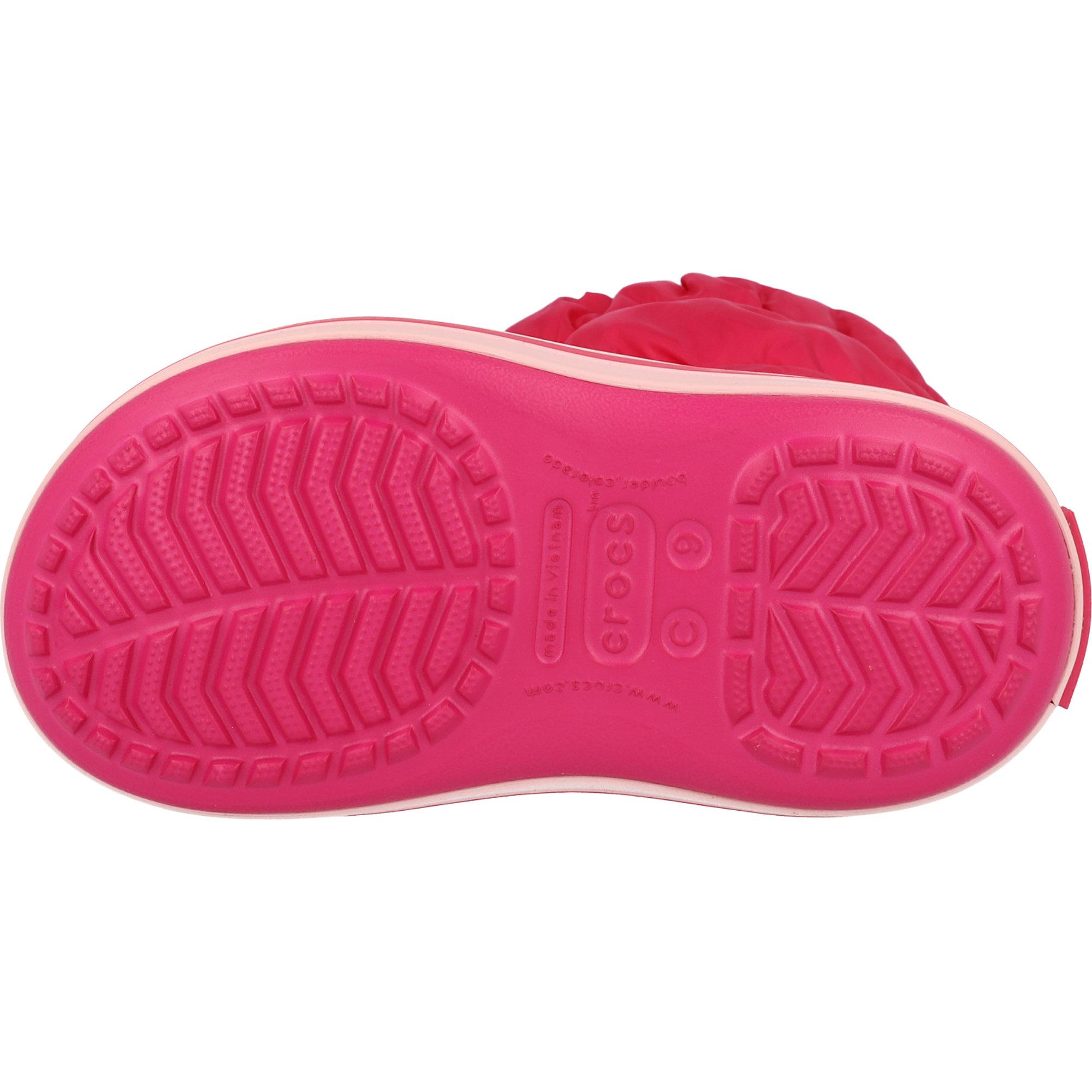 Crocs Kids Winter Puff Boot Candy Pink Nylon