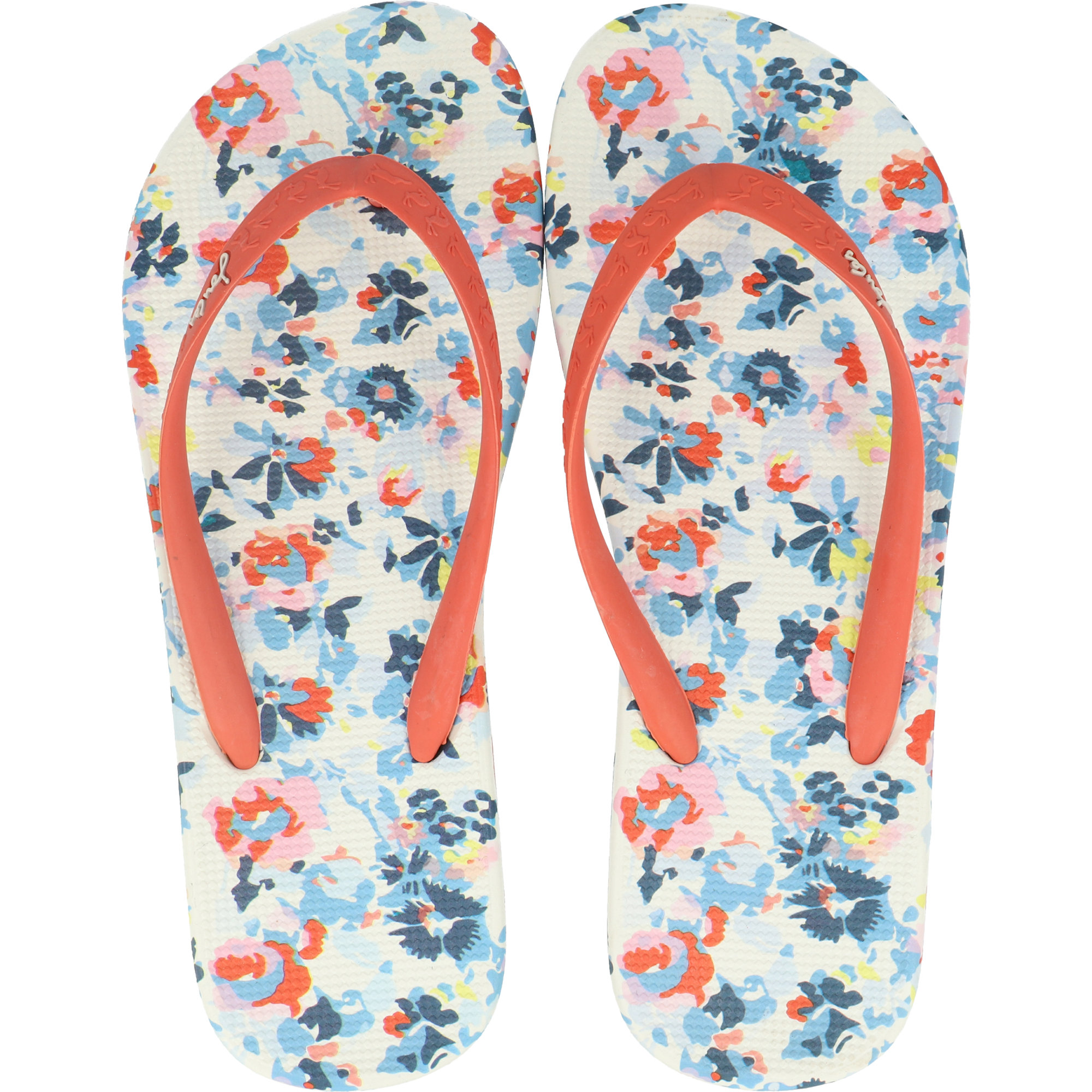 Joules Girls Printed Flip Flops in CREAM FAIRY DITSY Size Childrens 1