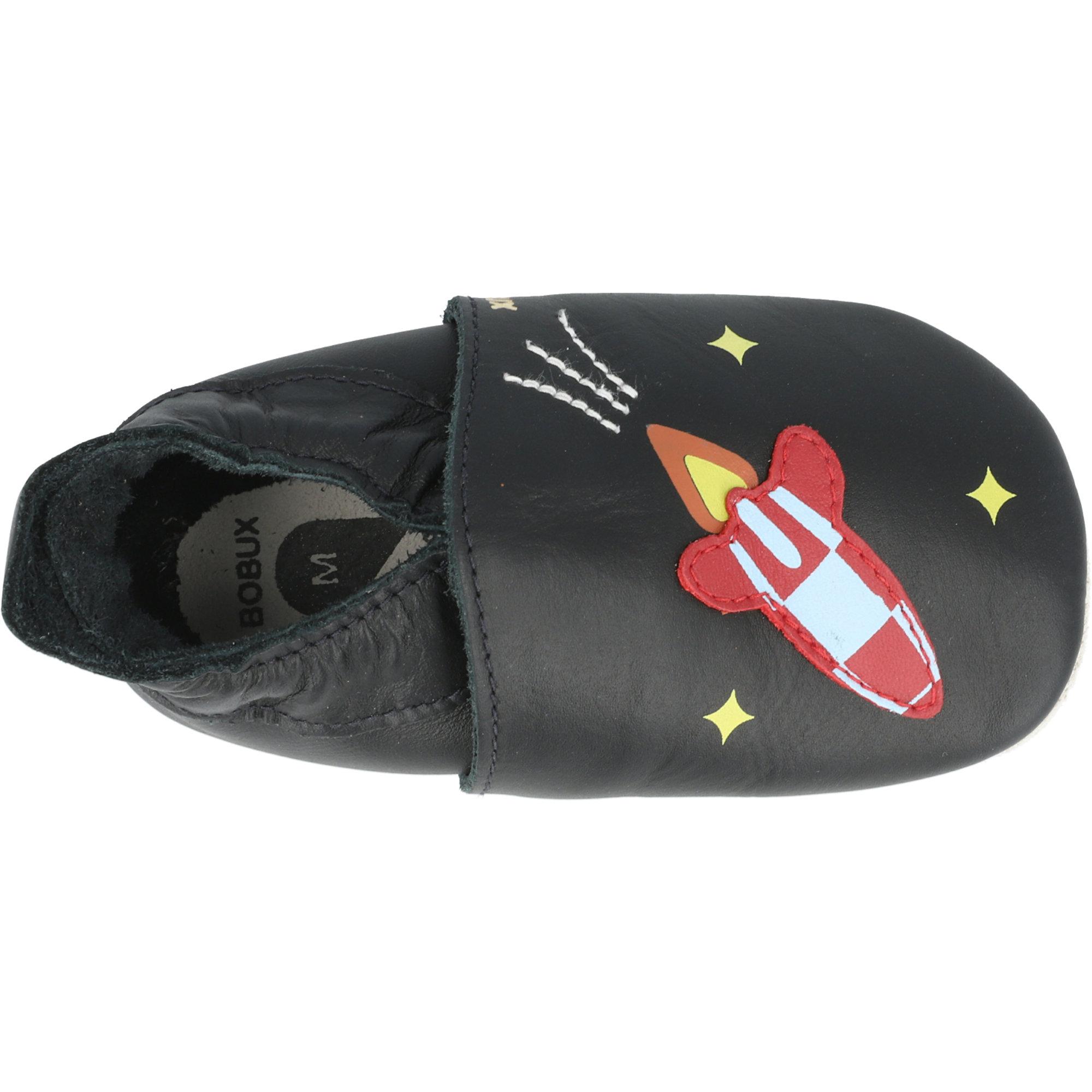 Bobux Soft Sole Rocket Black Leather