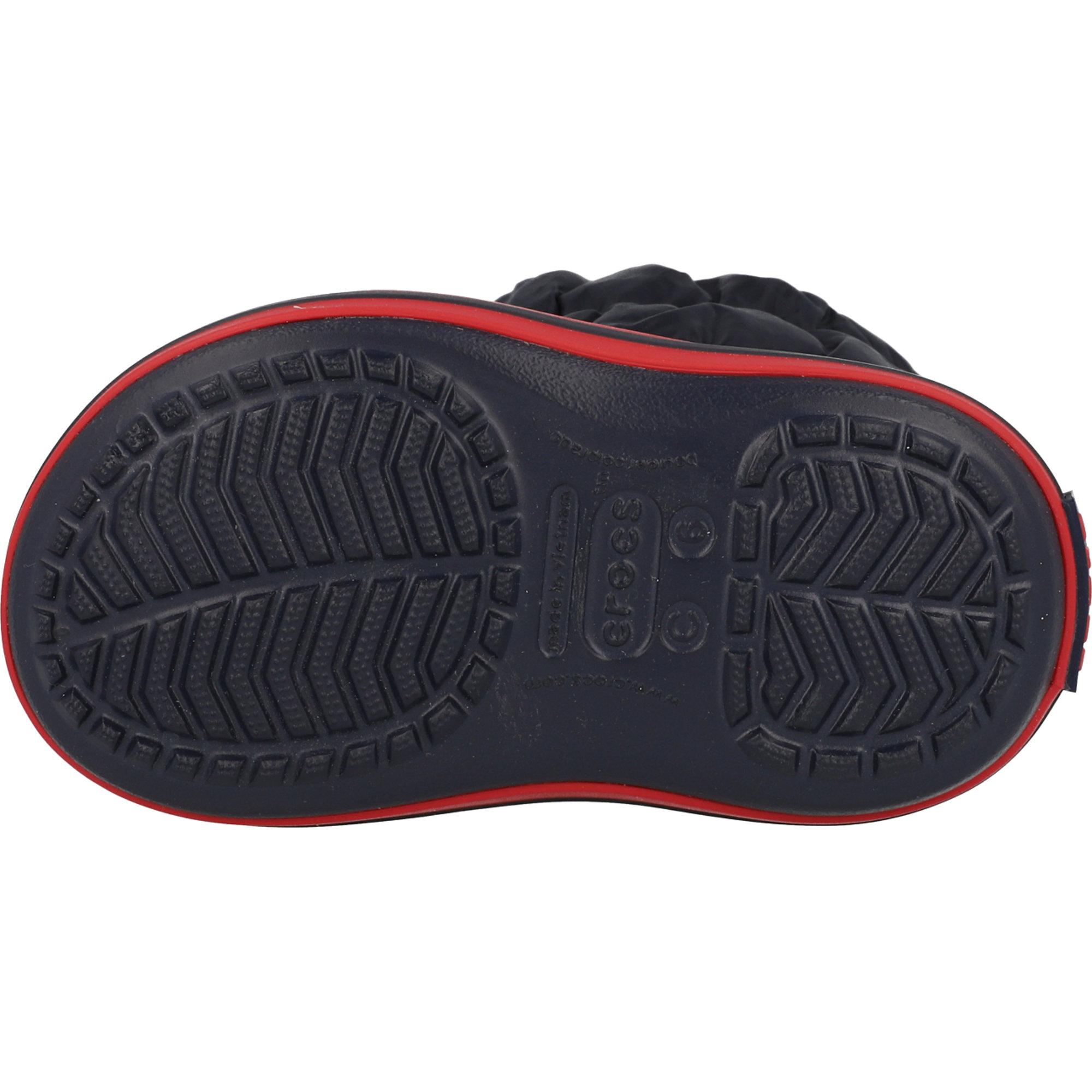 Crocs Kids Winter Puff Boot Navy/Red Nylon