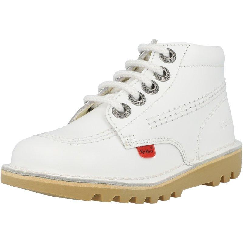Kickers Kick Hi Zip I White Leather