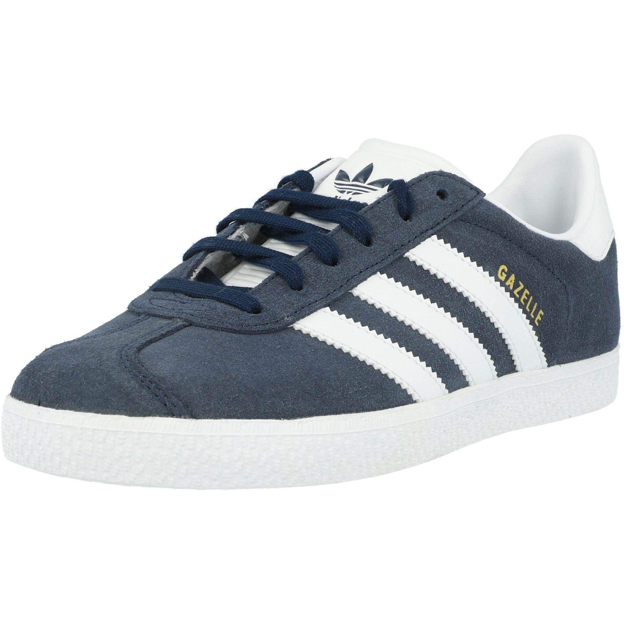 adidas Originals Gazelle J Collegiate Navy/White Suede