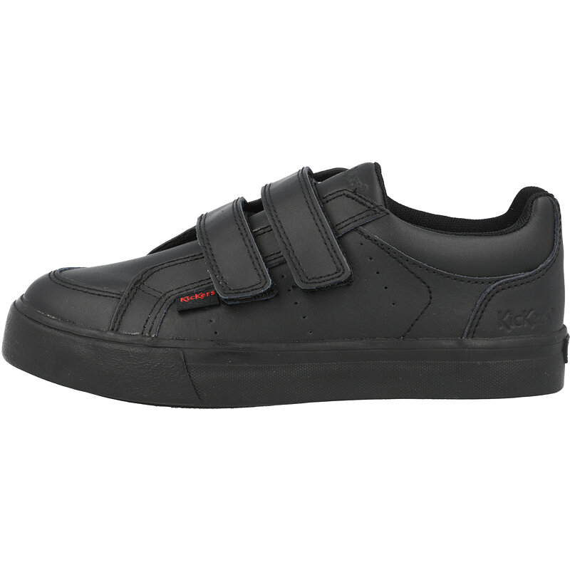Kickers Tovni Twin Vel J Black Leather