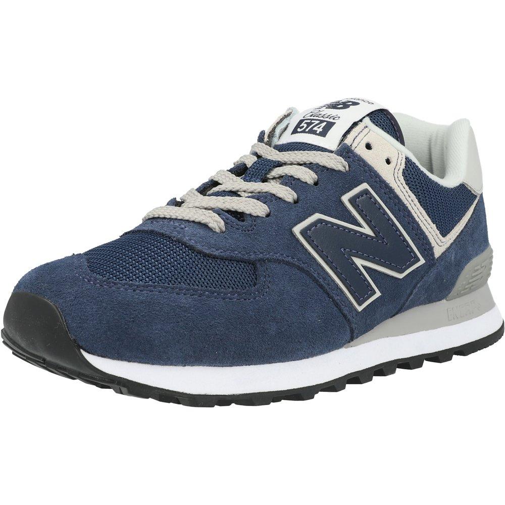 New Balance 574 Navy/Black Iris Suede Adult