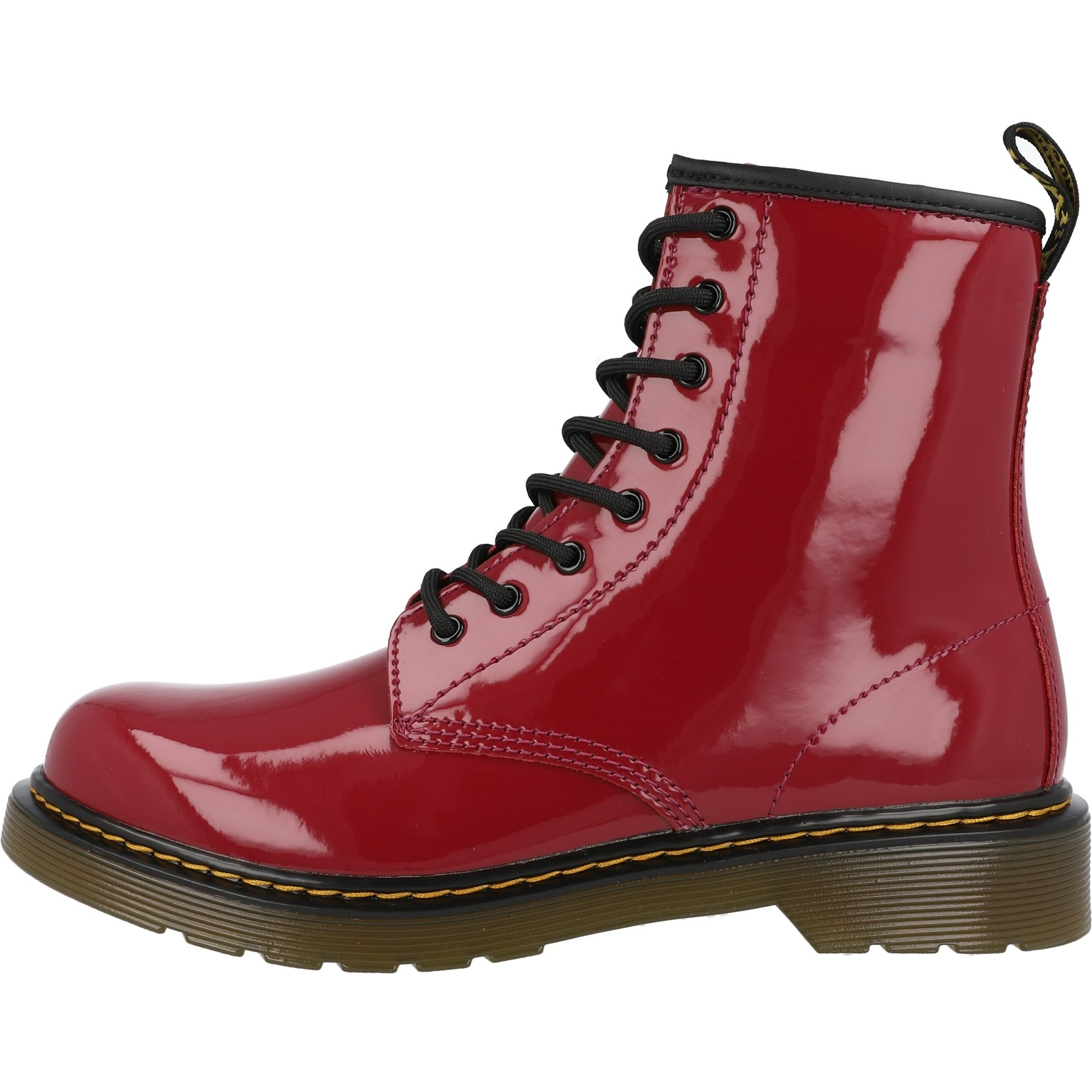Dr Martens 1460 Y Dark Scooter Red Patent Lamper