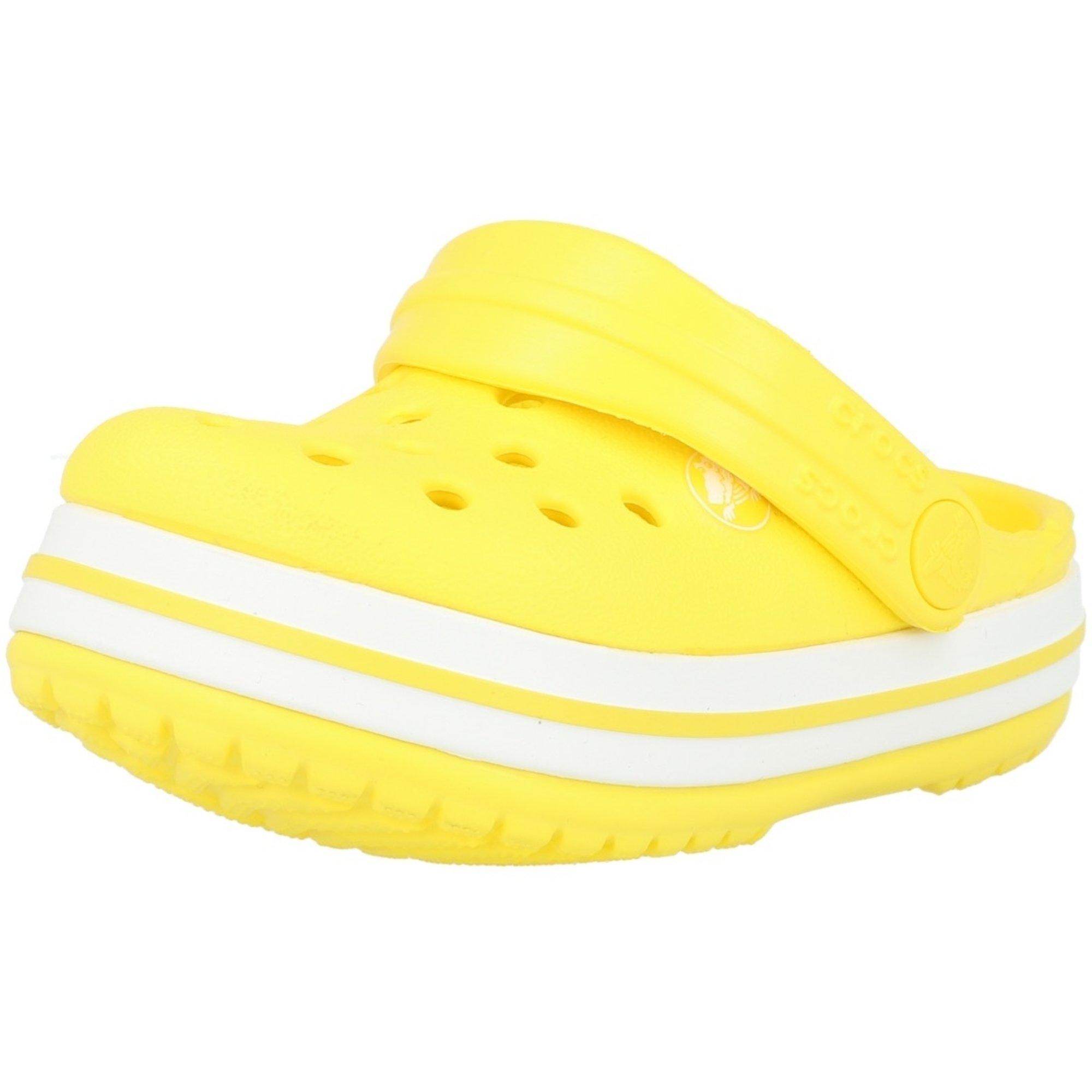 Crocs Kids Crocband Clog Lemon Croslite