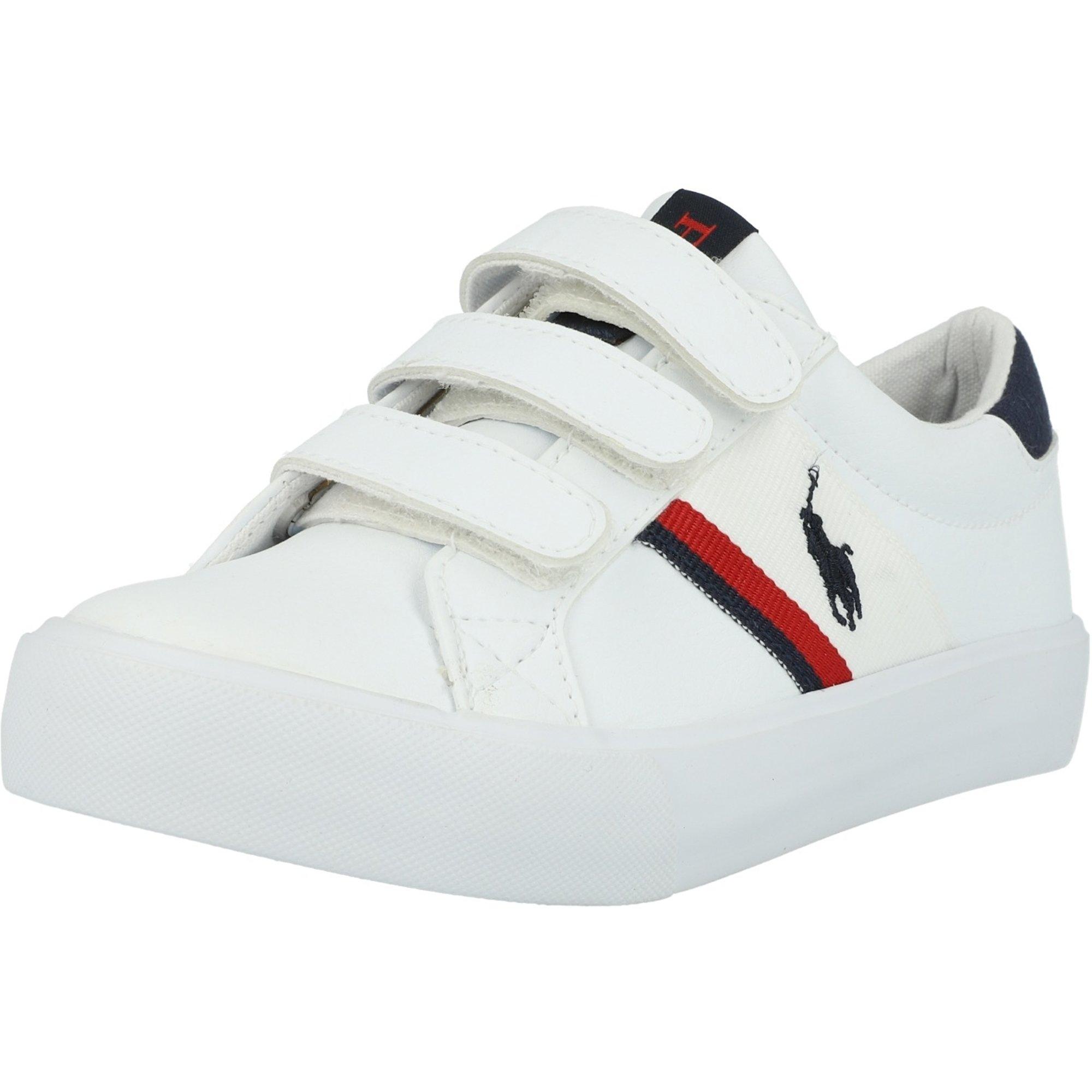 Polo Ralph Lauren Gaffney EZ C White/Navy Tumbled