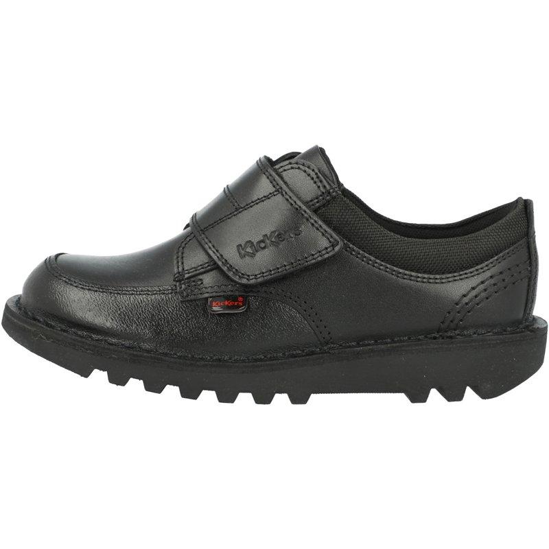 Kickers Kick Scuff Lo Black Leather