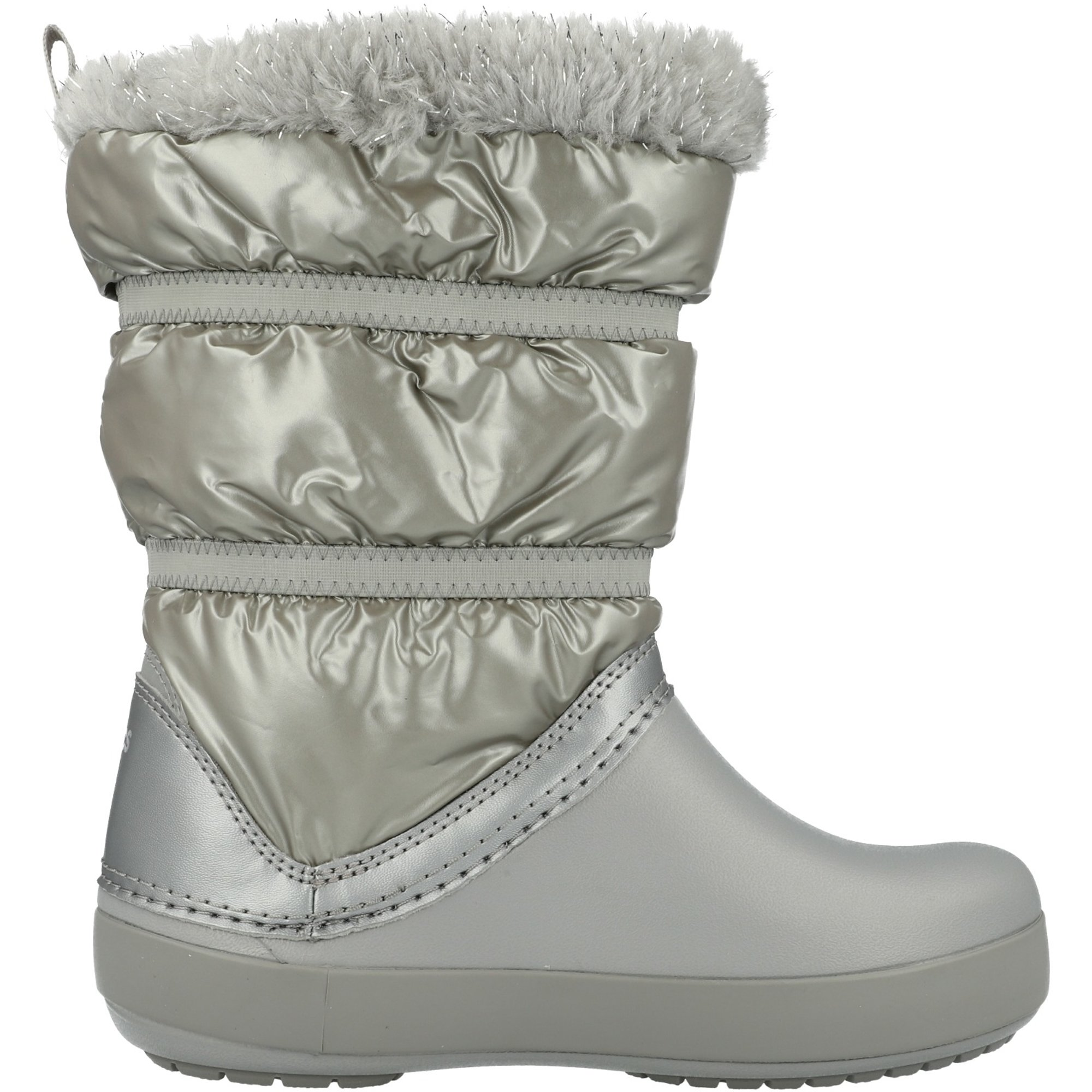Crocs CB LodgePoint Metallic Boot Silver Metallic Nylon