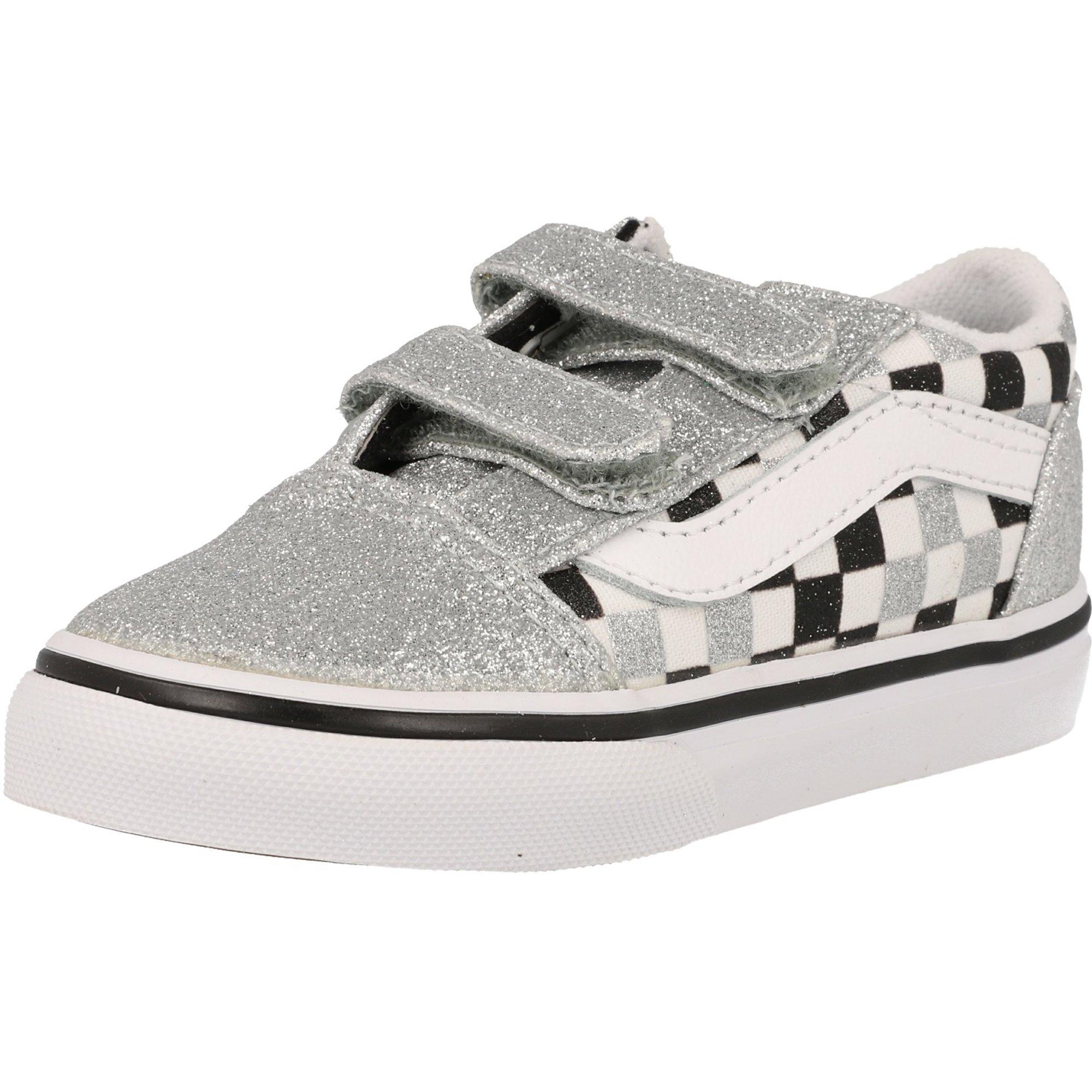 Vans TD Old Skool V Silver Glitter/True