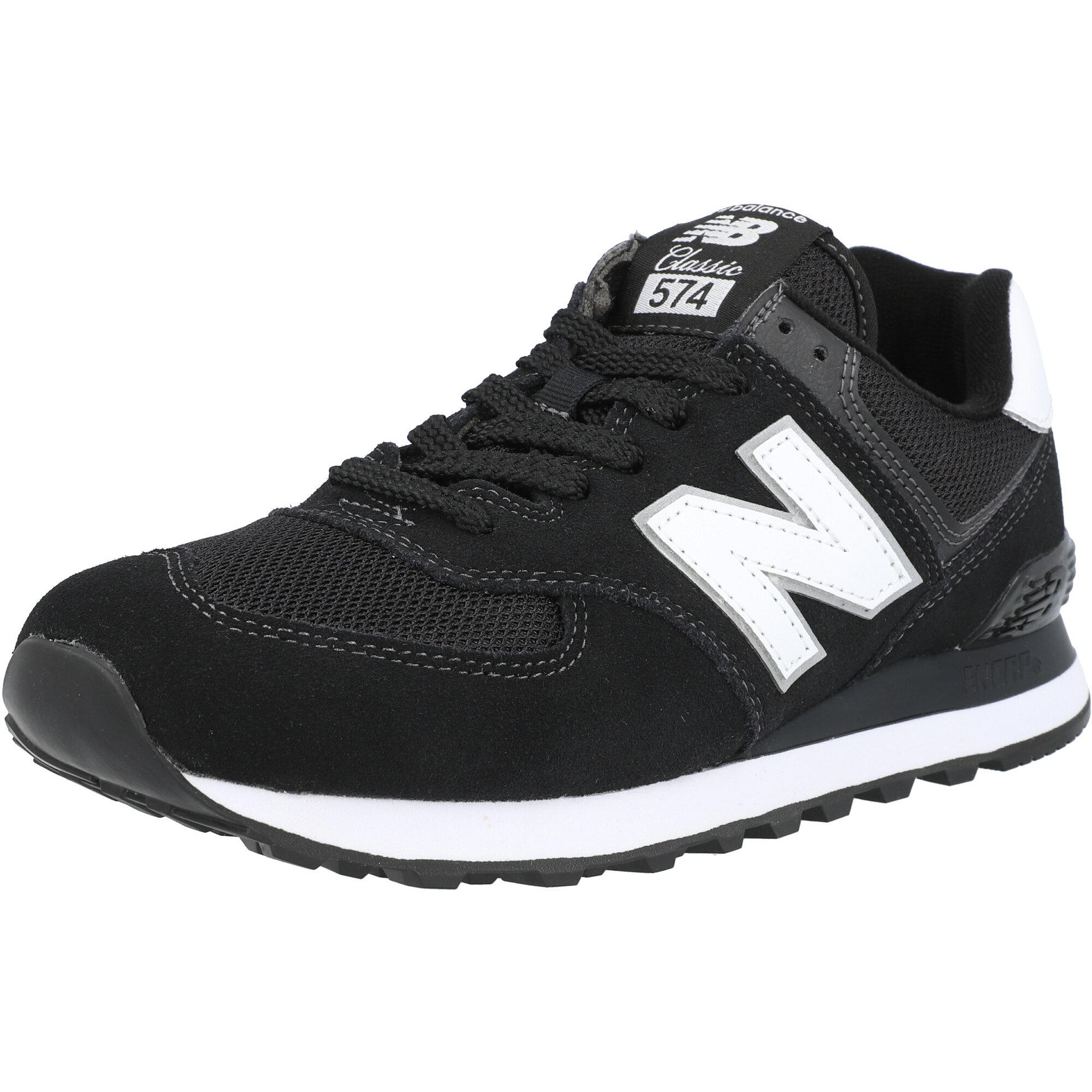 New Balance 574 Black/White Suede