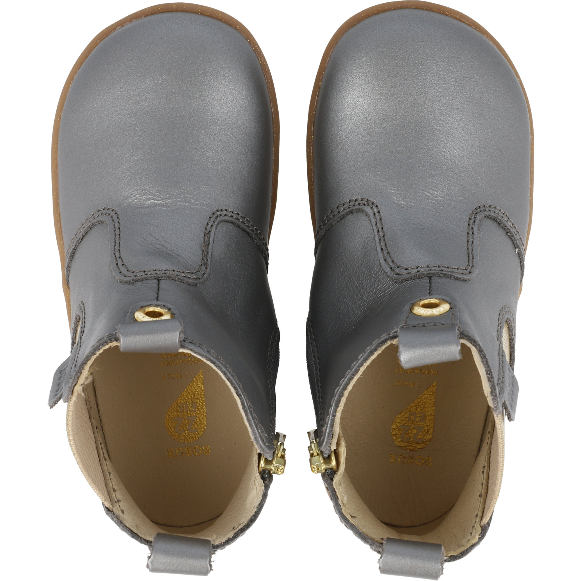 Bobux i-Walk Jodhpur Charcoal Shimmer Quickdry Metallic Leather