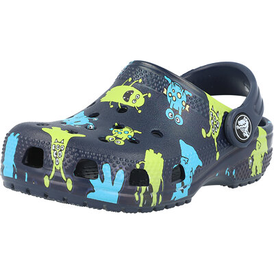 Kids Classic Monster Print Clog Infant childrens shoes