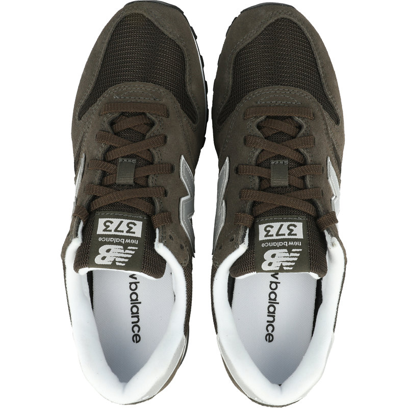 New Balance 373 Black Olive/White Suede Adult