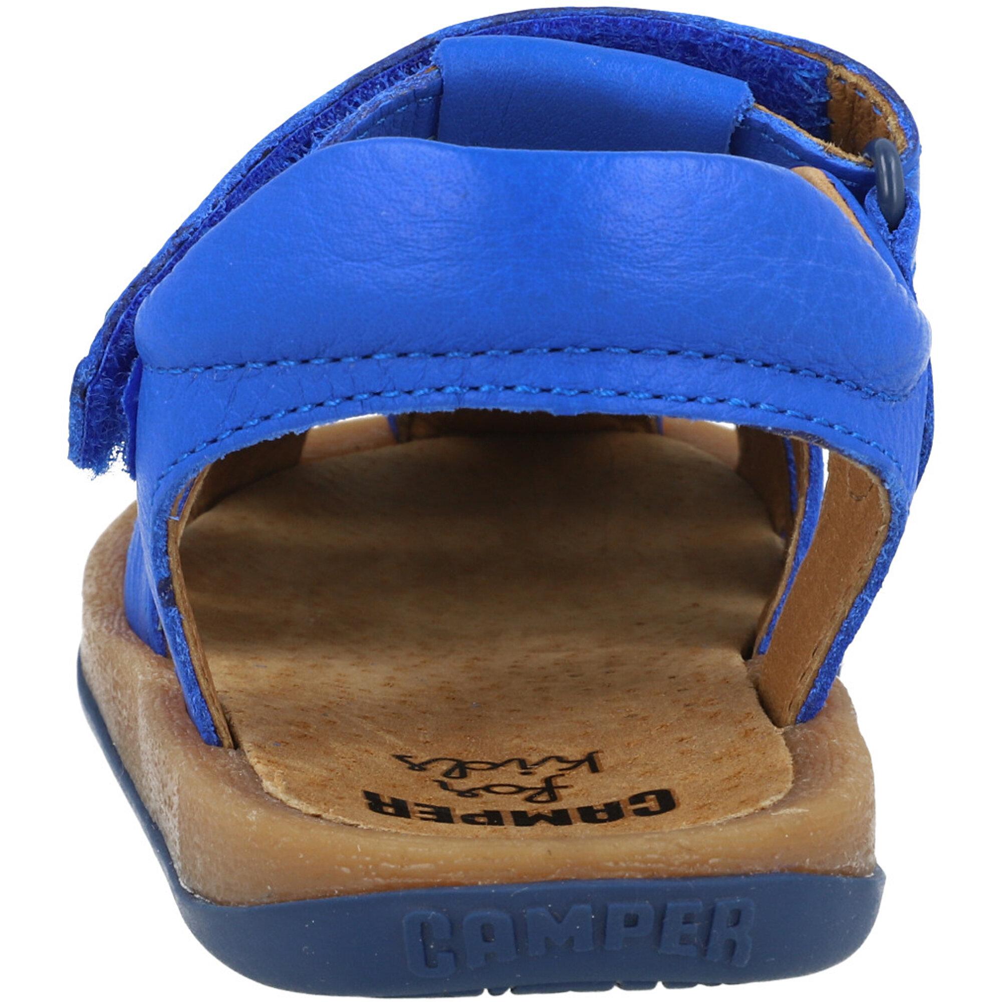 Camper Kids Bicho Medium Blue Leather