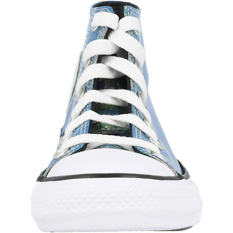 Converse Chuck Taylor All Star Hi Iridescent Glitter White/Black Synthetic