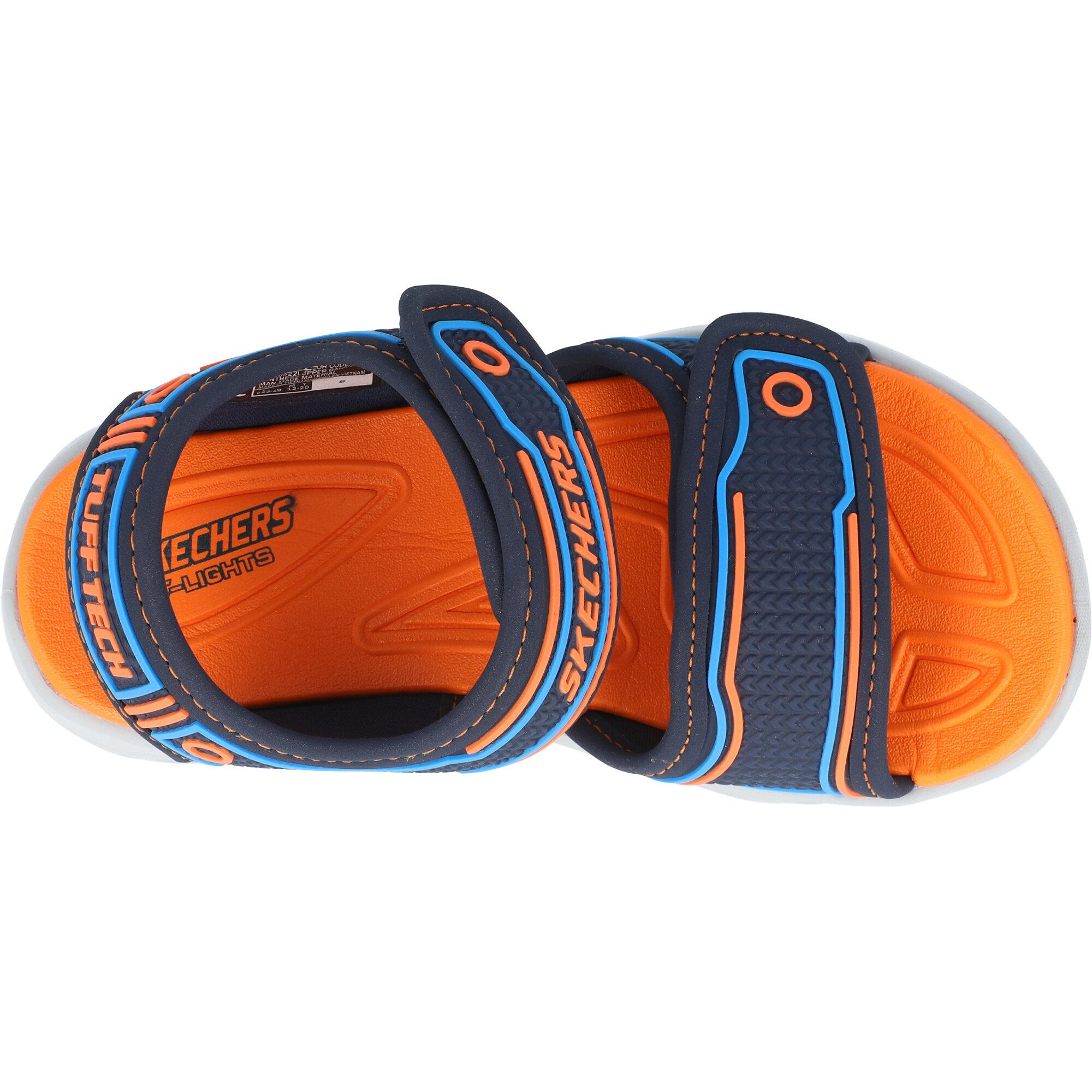 Skechers Hypno-Splash Navy/Orange Synthetic