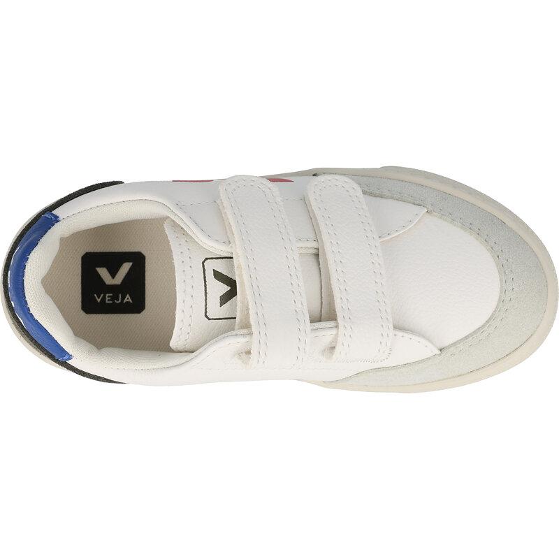 Veja V-12 Velcro J Extra White/Multico Mud Chrome-free Leather