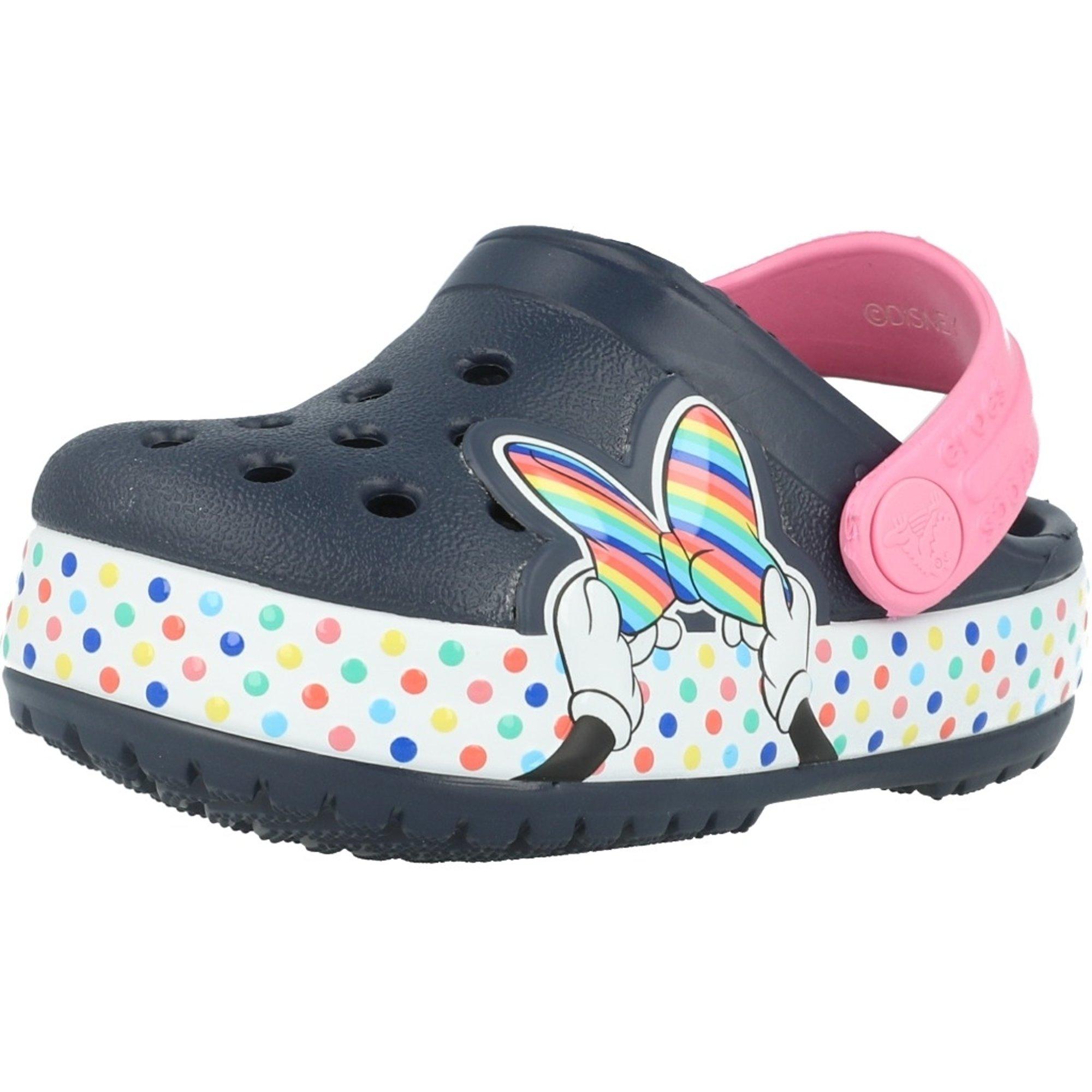 Crocs Kids Fun Lab Minnie Mouse Clog Navy Croslite
