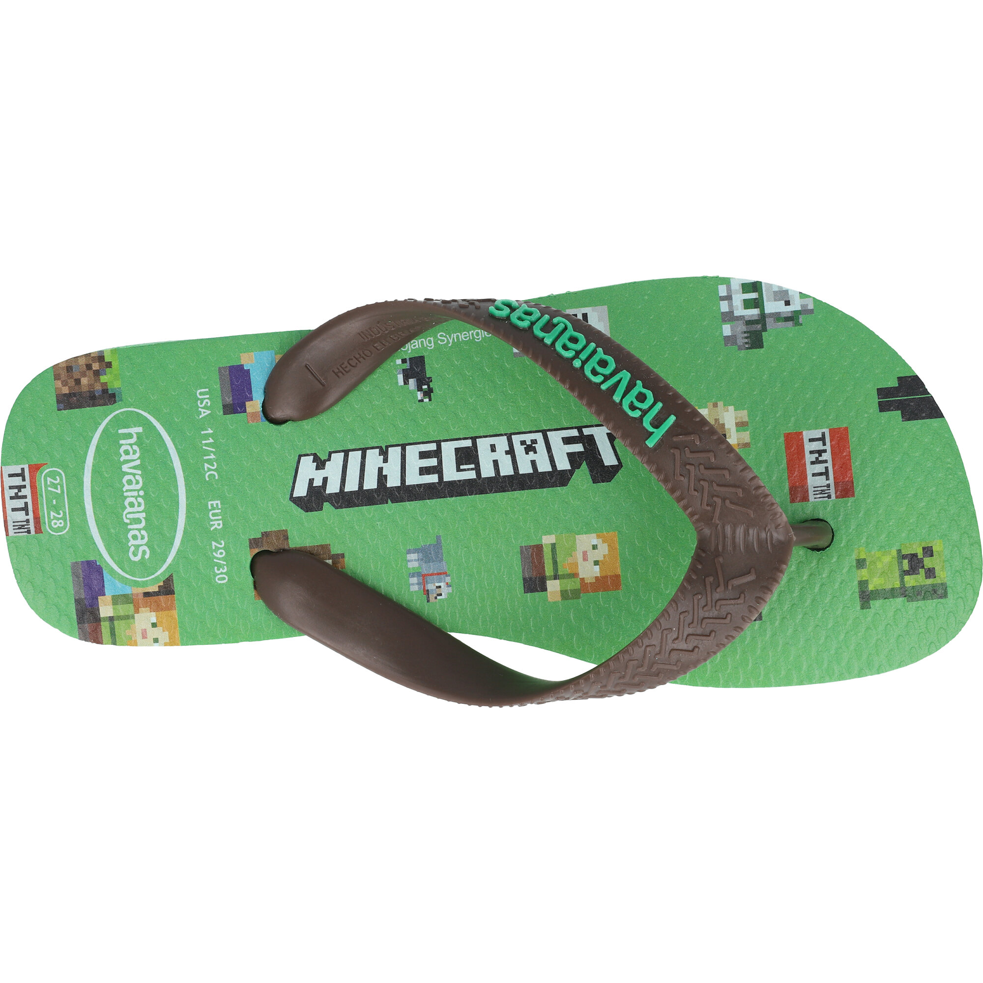 Havaianas Kids Minecraft Leaf Green Rubber